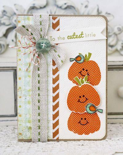 Cutest Little Pumpkin Card by Melissa Phillips for Papertrey Ink (September 2013)