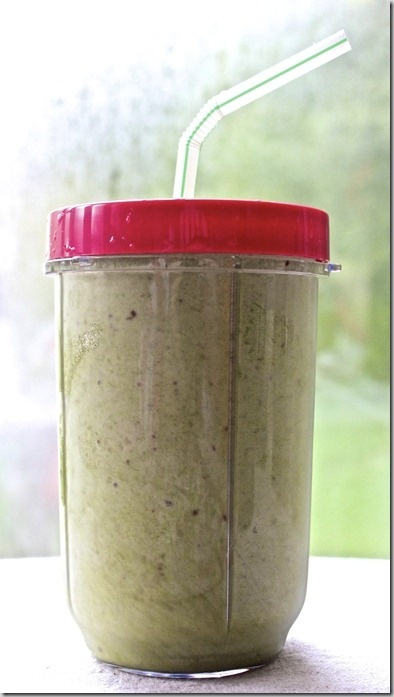 """Perfect Spinach Smoothie"" recipe (made with the Magic Bullet) from The Daily Crumb (love this blog!)"