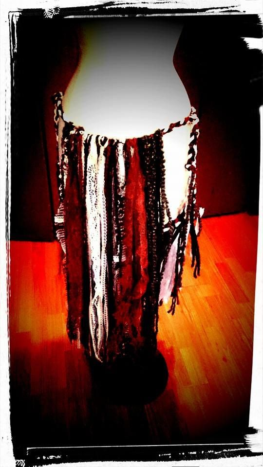Loin Cloth  Dancing Skirt Upcycled Clothing Woodland Clothes Festival Clothes Pagan Clothes, Gypsy Clothes Rag Skirt Tribal Skirt Wiccan