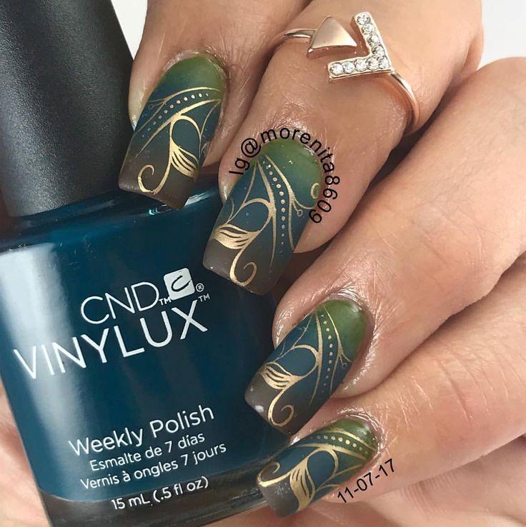 Fall Nails using Clear Jelly Stamping Plate     #nails #sexynails #nailstamping #nailart #naildesign  #fallnails #winternails #uñas #diseñodeuñas #uñaslindas