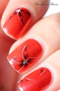 Exotic Flower Nails!