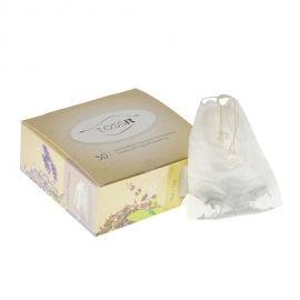 Japan Teefilter verschließbar.  Verschließbare Tee-Filterbeutel mit Kordelzug. Aus zertifiziert natürlichen Rohstoffen.  Länge 8,2 x 9,6cm, Inhalt 50 Stück / Packung.  https://www.teeunddesign.de/Tee-Zubehoer/Teefilter-Teesieb/Japan-Teefilter-verschliessbar::650.html