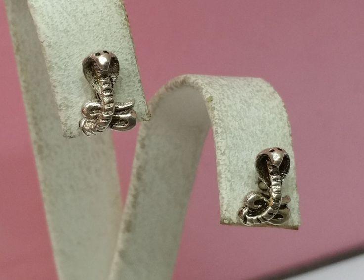 Vintage Ohrstecker - Ohrringe Ohrstecker Kobra Schlange Silber SO111 - ein Designerstück von Atelier-Regina bei DaWanda