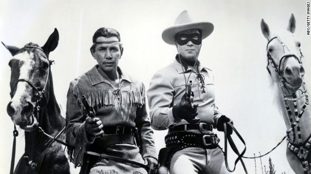 THE LONE RANGER, Clayton Moore and Jay Silverheels