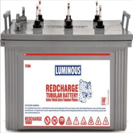 Luminous RC 18000 I 150Ah Tubular Battery  eavy Duty Tall Tubular Battery from Luminous . Its very low maintenance and specially Robust Tubular plates provide many years of service and durability .  Excellent overcharge tolerance (Accepts very deep discharge-suitable for long power cuts)  What's Included in the Package :  LUMINOUS Redcharge Tall Tubular Battery    –  1 No.  Warranty   03 Years on Battery ( 18 Months Replacement+18 Months Pro Rata )  Free Yearly Maintenance of the Batteries…