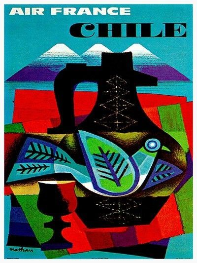 "Chile Art Vintage Travel Poster Chilean Print 11x14""  Rare Hot New XR141 #Vintage"