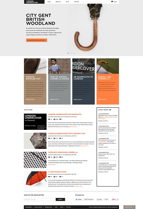 London Undercover / Digital Concept on Web Design Served