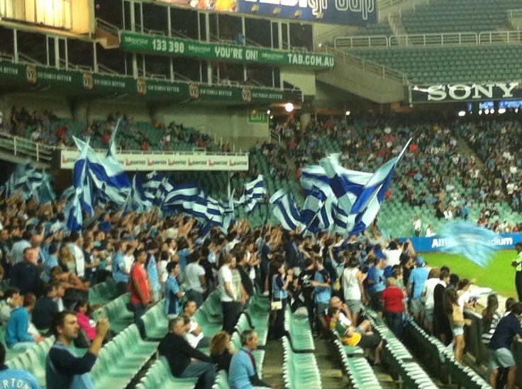 "Sydney FC - The Cove - ""Sydney! Sydney! Sydney till I die!"""