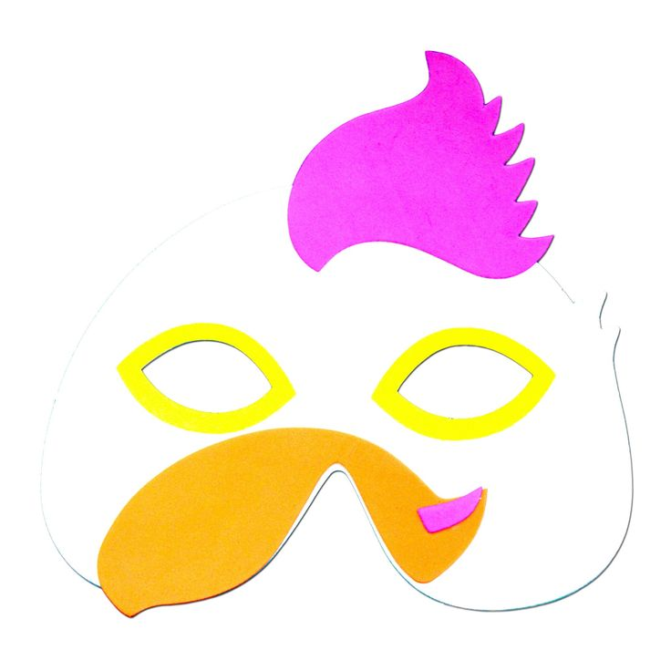 Our rooster animal foam mask with a purple comb will be a hit at your next children's birthday party.