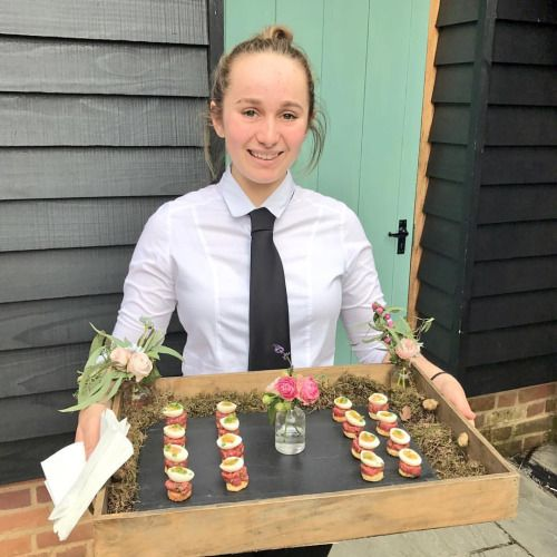 Canapes Wedding Food Catering Buckinghamshire http://www.gooseandberry.co.uk/food-drink-gooseberry  #canapés #tartare #catering #events #wedding #seasonal #local #delicious #bestofbritish #London #Marlow #Buckinghamshire #staff #wedding
