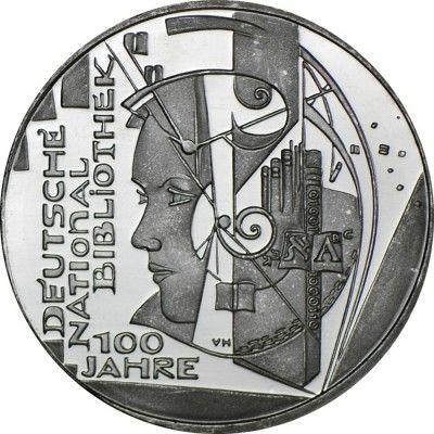 10 Euro CuNi 100 Jahre Deutsche Nationalbibliothek UN