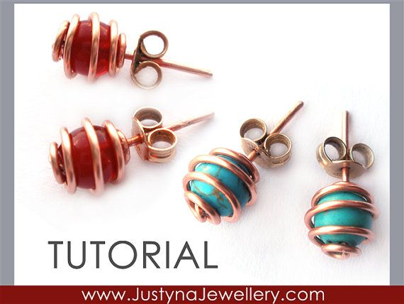 This CAGE STUD EARRINGS tutorial shows how to make two kinds of stud earrings using cage design. They are both great for everyday wear, very