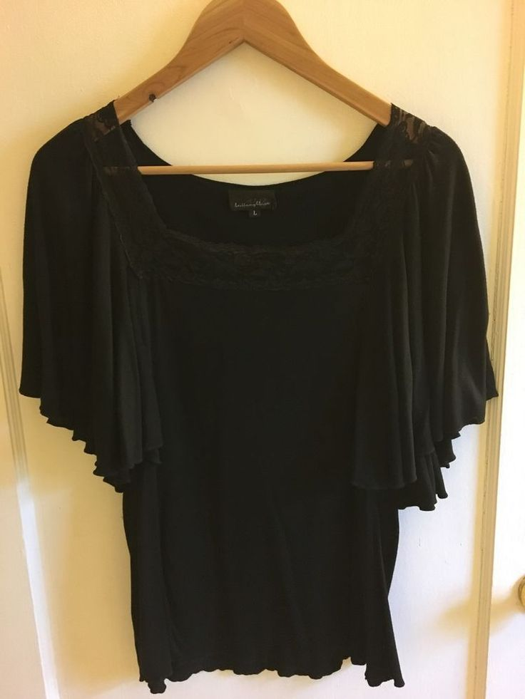 Brittany Black Batwing Top Size Large   eBay
