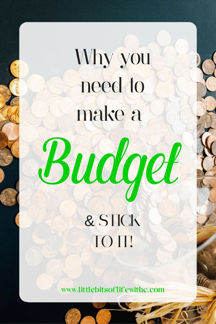 Make a budget and stick to it! Budget setting might not be easy for everyone, but we all need it!