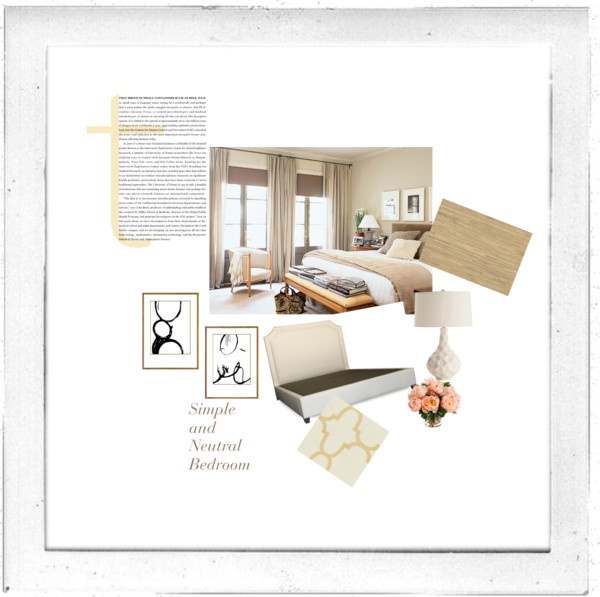 """""""Simple and Peaceful Bedroom"""" by insideavenue on Polyvore"""