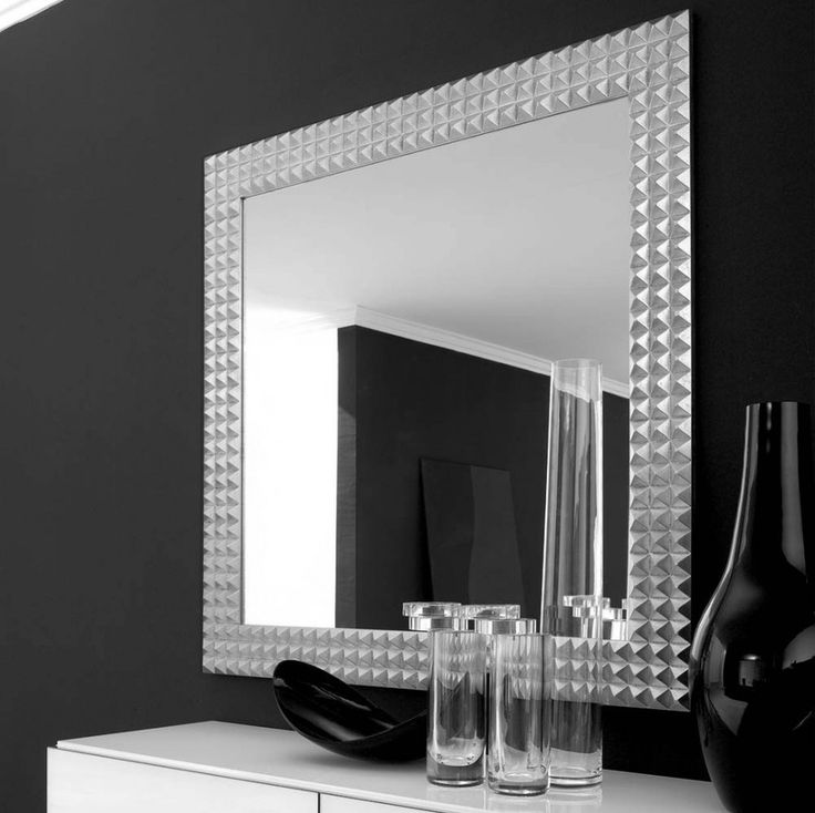 Large Wall Mirror Black Frame