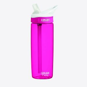 PromoBrand-PRINTED WATER BOTTLE CamelBak Eddy 0.6L. The CamelBak Eddy Bottle. Durable spill proof bottle for hydration on the go. The patented flip top big bite valve and straw allows easy drinking without tipping or taking your eyes off the road. The wide mouth opening is easy to fill with ice and liquid. BPA free. Complete with a lifetime guarantee.