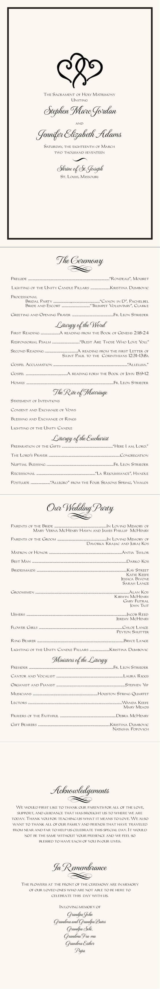 Linked Hearts Contemporary and Classic Wedding Programs