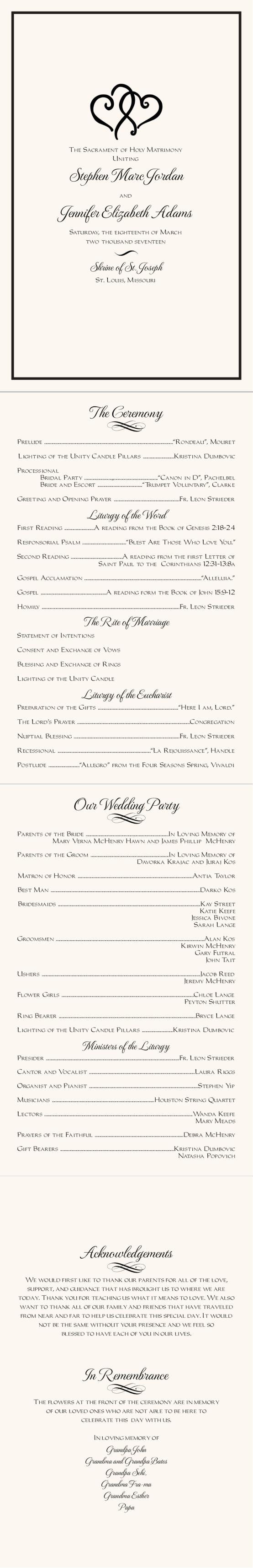 25 Best Ideas About Wedding Programs Simple On Pinterest