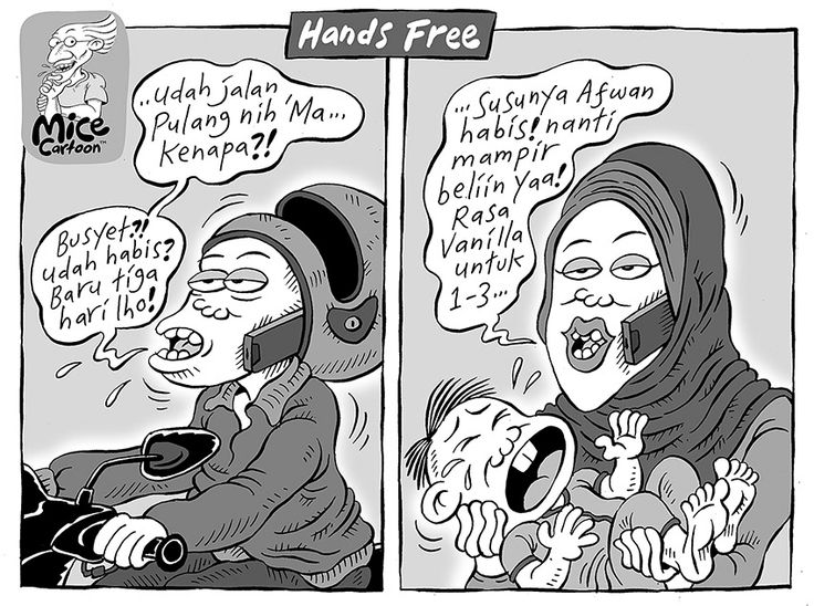 Mice Cartoon, Kompas 23.03.2014: Hands Free