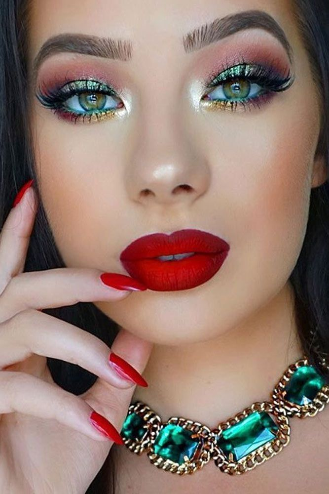 35 Red Eye Makeup Looks Beautiful For Women Red Lipstick Looks