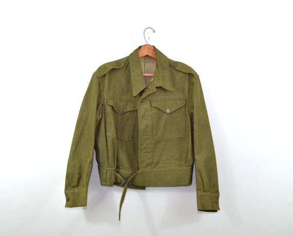 1950s Eisenhower Jacket Army Jacket Ike Jacket by founditinatlanta