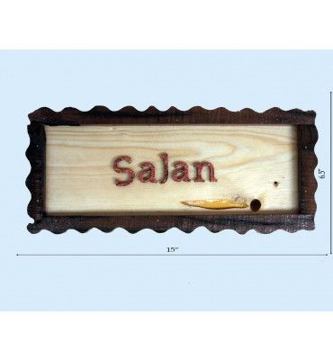 We decorate your House with wooden Name Plates . Free Home Delivery  Available across India. http://www.krafthub.com/name-plate-91.html