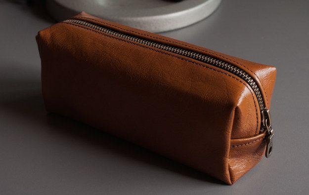 Mahogany Leather Pencil Case