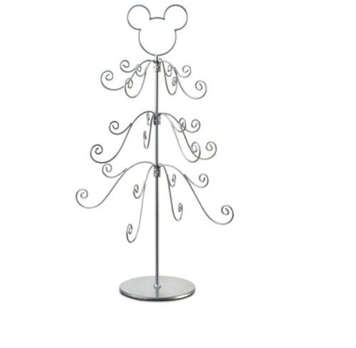 Metal Tabletop Christmas Tree: Disney Parks Mickey Mouse Silver Tabletop Christmas Tree