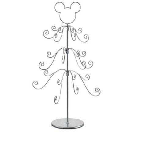 Metal Tabletop Christmas Tree: Disney Parks Mickey Mouse Silver Tabletop Christmas Tree
