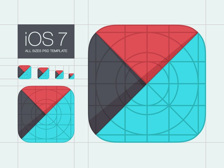 Template for iOS 7 App Icons by Denis Shoomov