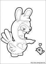 raving rabbids coloring pages on coloring bookinfo