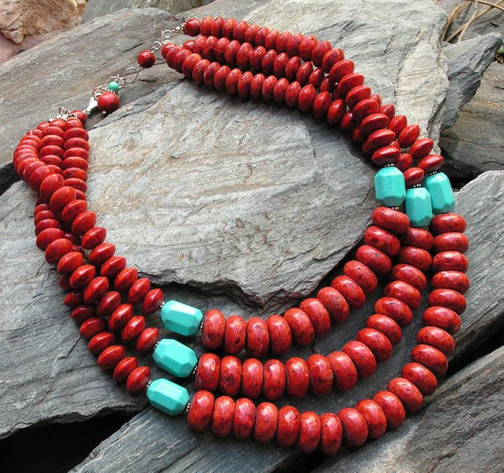 My Business - c o w g i r l f l a i r 1: Chunky sponge coral and turquoise nuggets