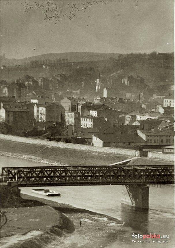 Most Dębniki (stary) (Most kolejowy), Kraków - 1940 rok, stare zdjęcia