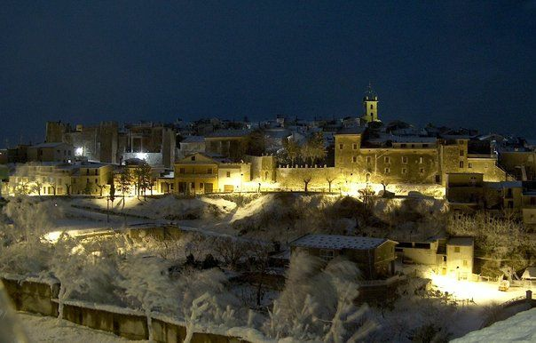 Vico nel Lazio...la magia di un borgo durante una nevicata