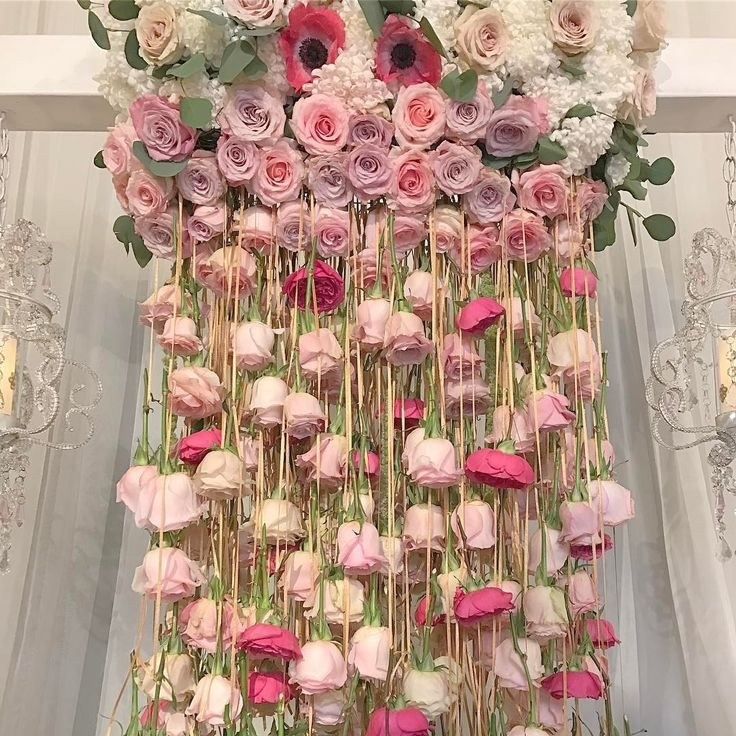 Bella Chic Events Showed Of A Rosy Spin On The Chandelier With This Hanging Fl Arrangement