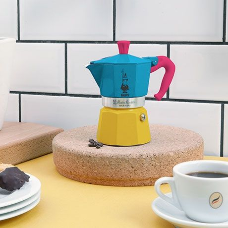 Blue Italian Coffee Maker : Expo Espresso Maker - Blue - by Bialetti MONOQI #bestofdesign Origin Italy Material ...