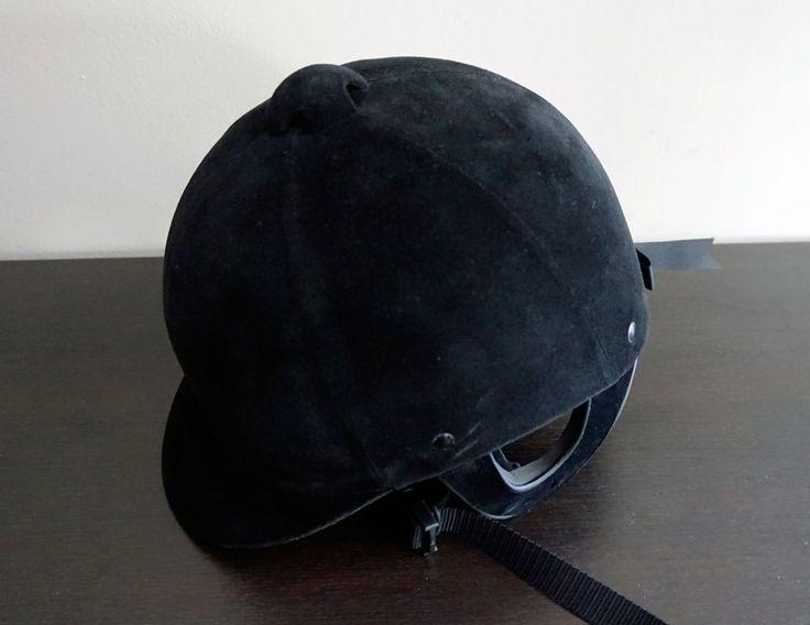 Horse Riding Helmet / Safety riding cap , Black Velvet, Caparello  #Caparello