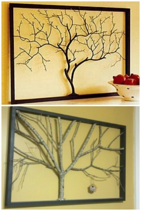 Twig art... the first is from pinterest, the bottom is in my dining room!