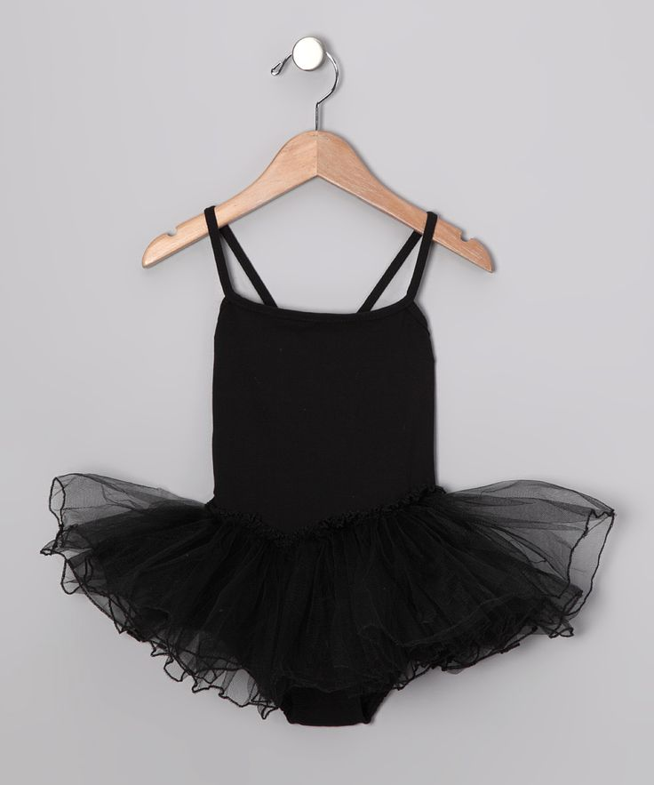 Black Skirted Leotard - Toddler & Girls