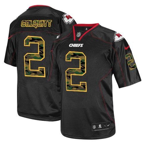 Nike Kansas City Chiefs Mens #2 Dustin Colquitt Elite Black Camo Fashion NFL Jersey