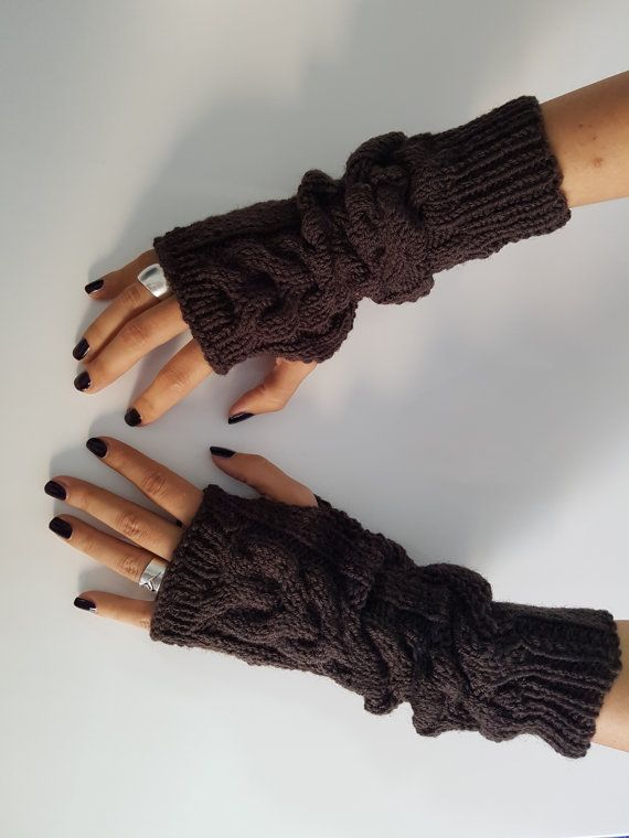 Gloves fingerless women gloves wool gloves by TogetherDifferent