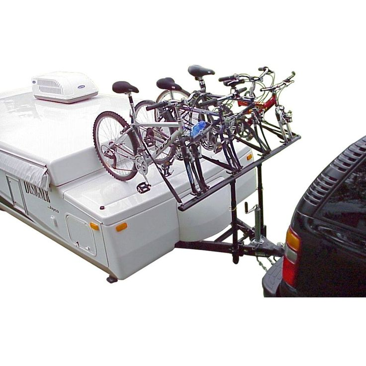 Pop Up Camper Bike Rack mounted to a trailer
