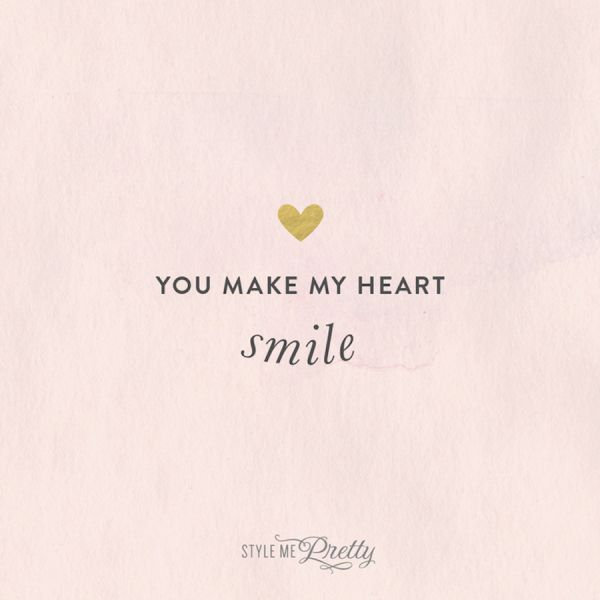 You make my heart smile! http://www.stylemepretty.com/collection/2976/