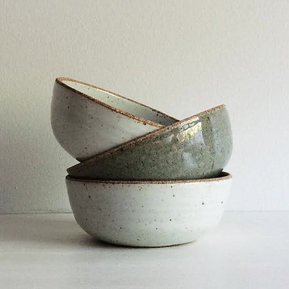Handmade Pottery Soup Bowl Stoneware Ceramic by SheldonCeramics
