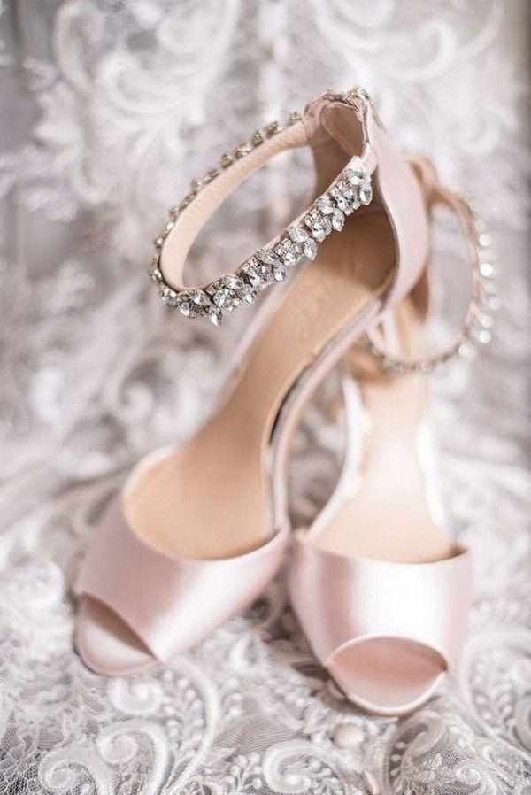 Pink Wedding Shoes Low Heel