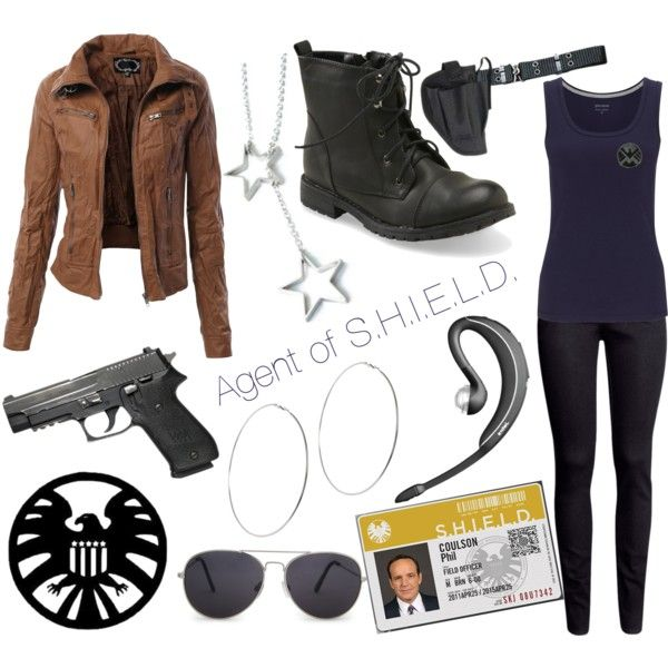 Agent of S.H.I.E.L.D. Outfit by bananasmcphee on Polyvore featuring John Lewis, H&M, Aéropostale, Freena, ASOS, MANGO, Holster, Jabra and Marvel Comics