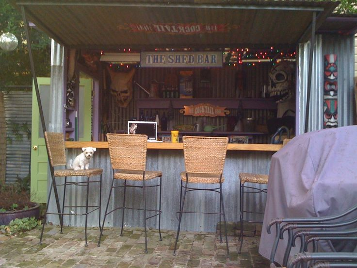 Outside shed bar