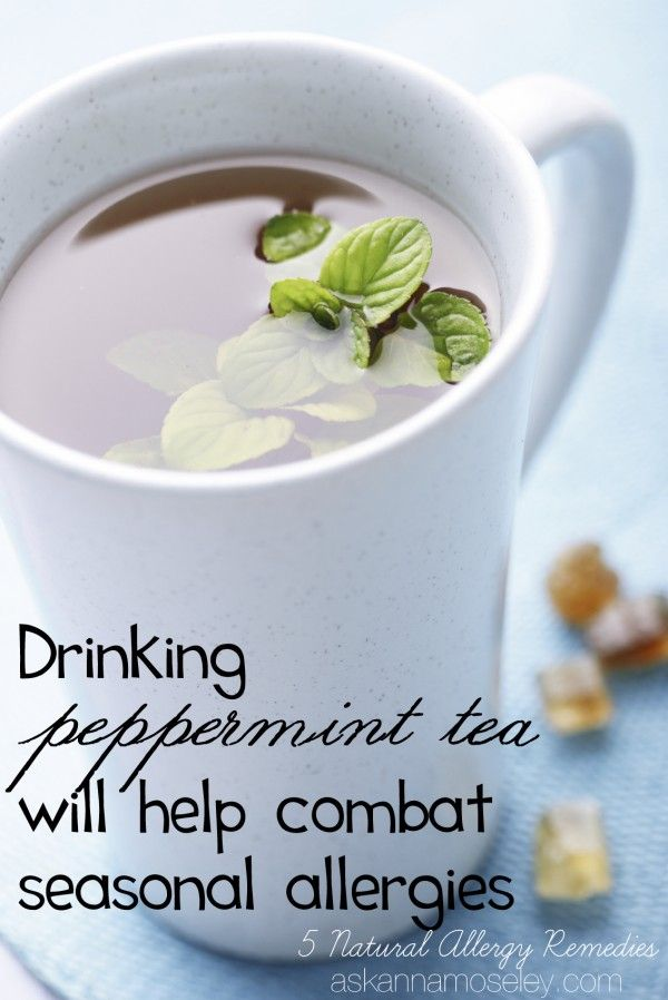 Drink peppermint tea as an all natural way to combat allergies - Ask Anna #HealthierHome #ad