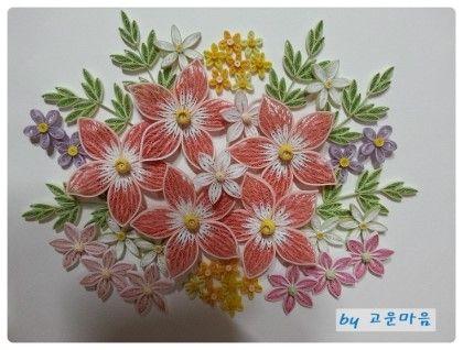 중급 제 9강 Spring-보라색 꽃(타원형 14개를 모아 만든꽃) : 네이버 블로그